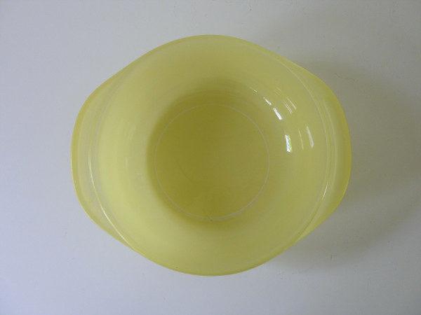 cocotte pyrex jaune vintage