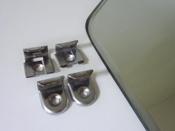 fixations miroir losange biseauté années 60