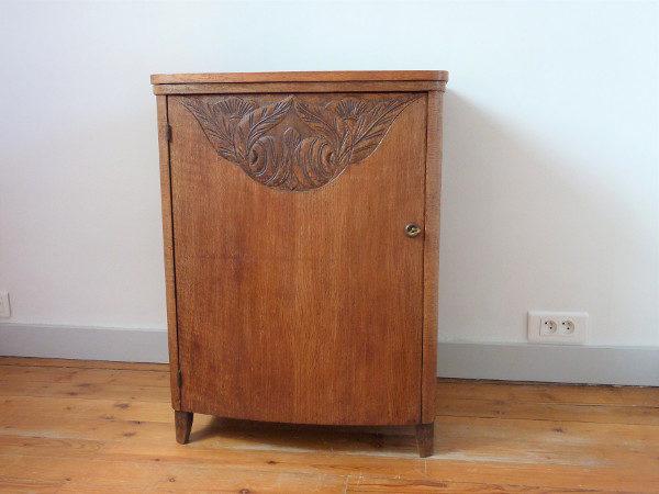 meuble de couture ancien bois massif art déco