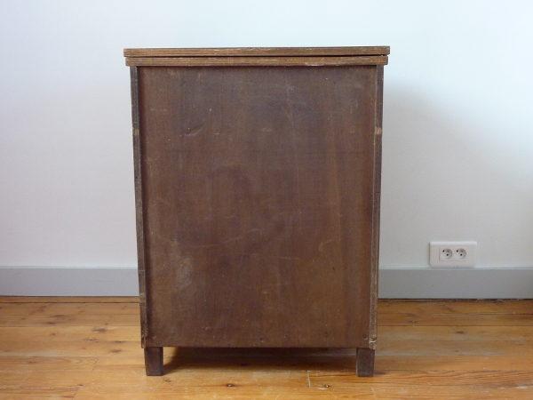 meuble de couture ancien bois massif art déco dos