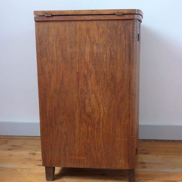 meuble de couture ancien bois massif profil