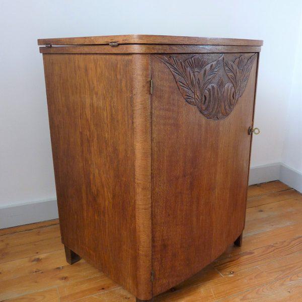 meuble de couture années 30 bois massif art déco