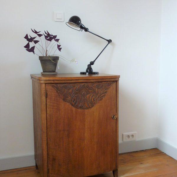 meuble de rangement ancien bois massif art déco