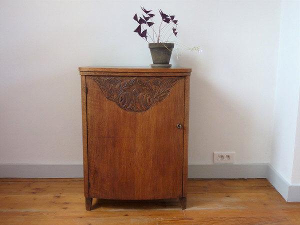 petit meuble de couture ancien bois massif art déco