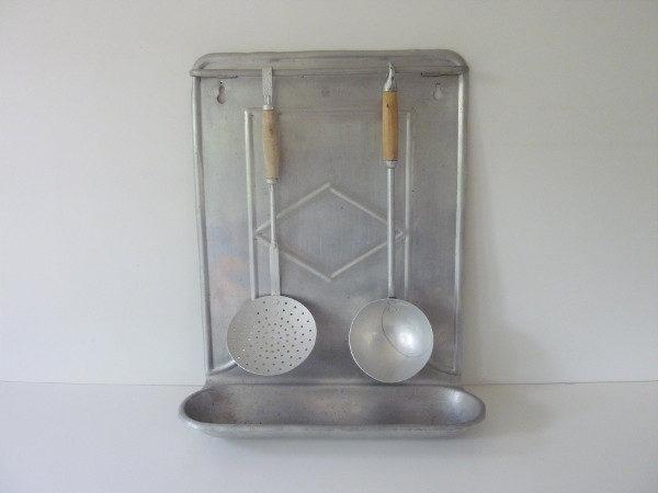 porte ustensiles ancien aluminium