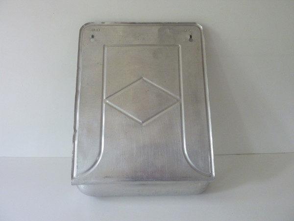 porte ustensiles ancien aluminium embouti