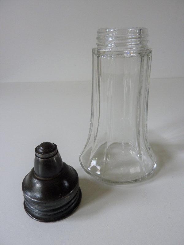 sucrier ancien en verre