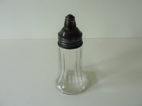 sucrier ancien verre et métal