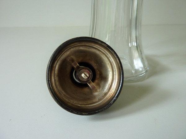 sucrier verseur verre et métal