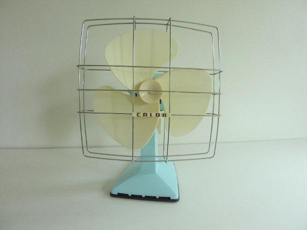 ventilateur calor vintage bleu pastel