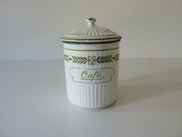 pot à café émaillé ancien