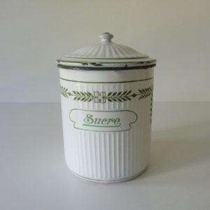 pot à sucre émaillé ancien