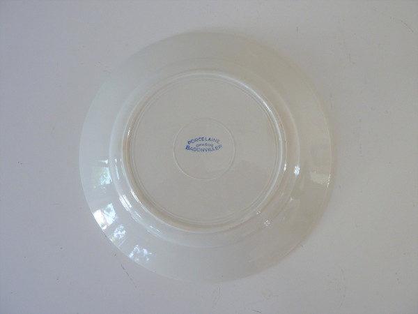 assiette badonviller porcelaine opaque