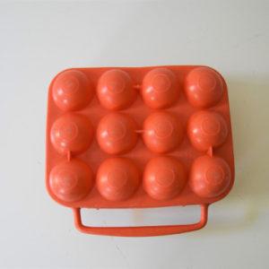 boite à 12 oeufs vintage orange