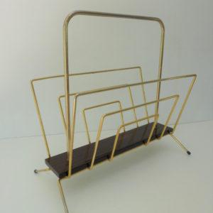 porte revues métal doré et formica années 60