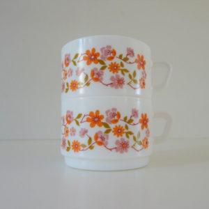 tasses à thé scania arcopal vintage