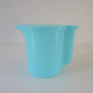 verseuse Tupperware bleue vintage