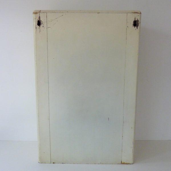 armoire à pharmacie metallique vintage dos