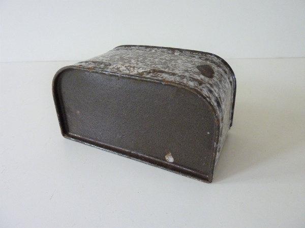 boite à allumettes émaillée mouchetée ancienne
