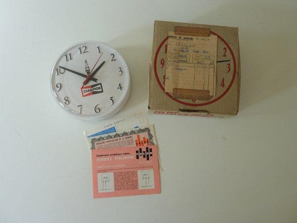 horloge murale calor champion vintage années 60