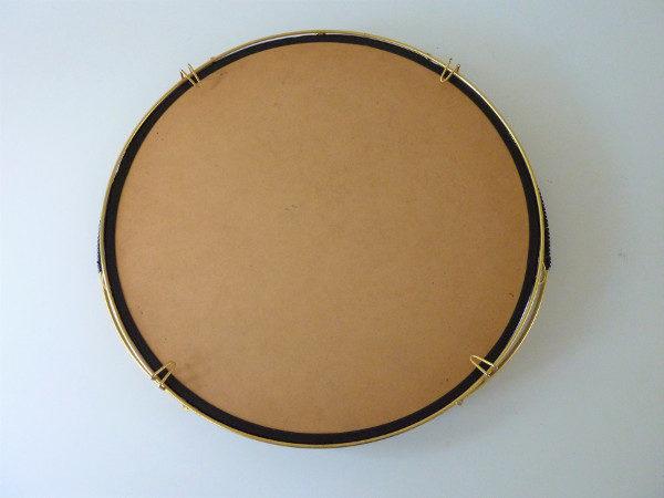 plateau miroir rond années 50 dos