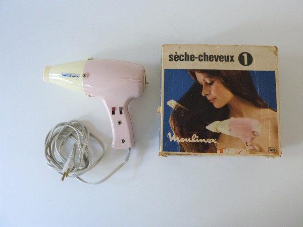 seche cheveux moulinex vintage rose