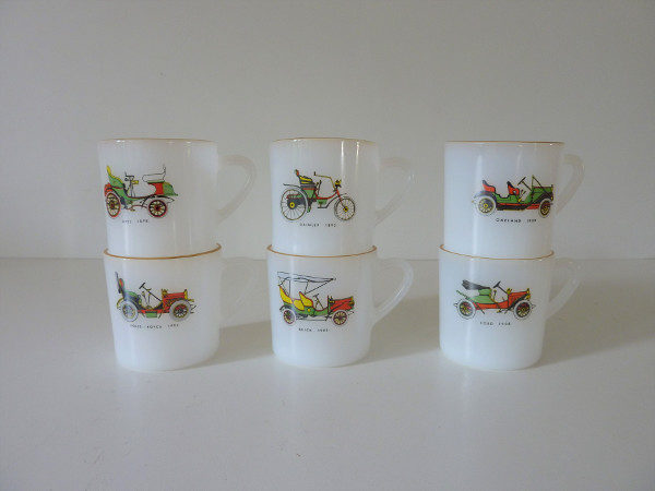 tasses ensemble saxe arcopal vintage