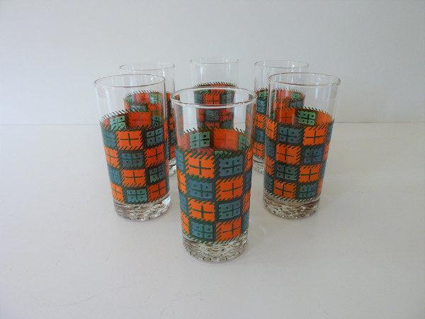 verres à orangeade seventies