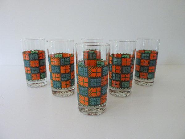 verres à orangeade années 70