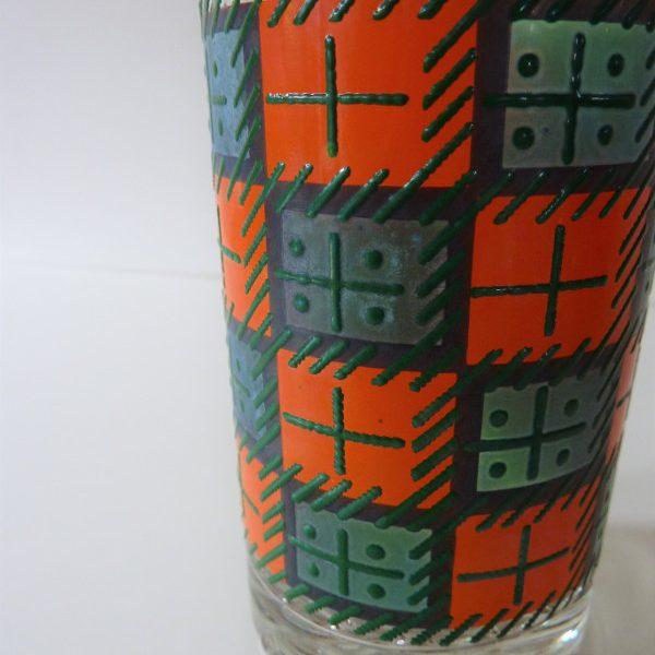 verres à orangeade décor seventies