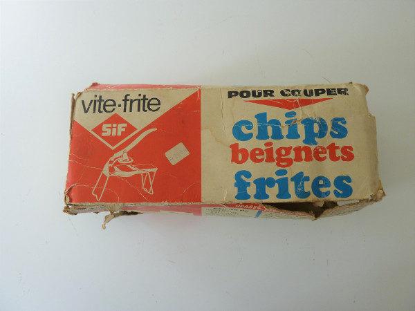 coupe frites vite-frites pliant ancien dans sa boite
