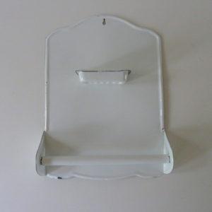 plaque émaillée porte savon ancienne