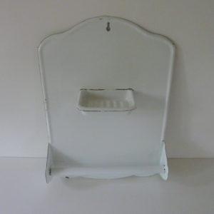 plaque tole émaillée porte savon ancienne