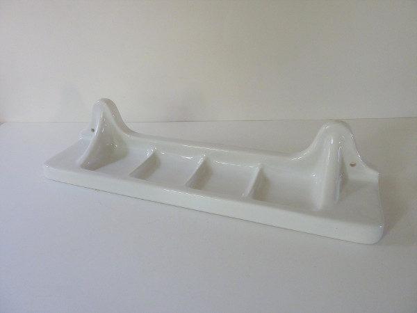 tablette porcelaine ancienne blanche