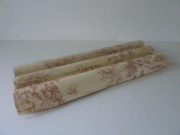 3 rouleaux papier peint ancien toile de jouy