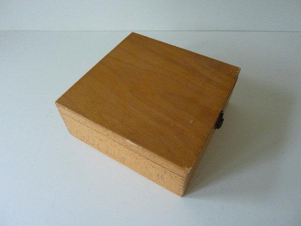 Boite à fiche en bois ancienne D2