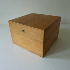 boite à fiches ancienne en bois B1