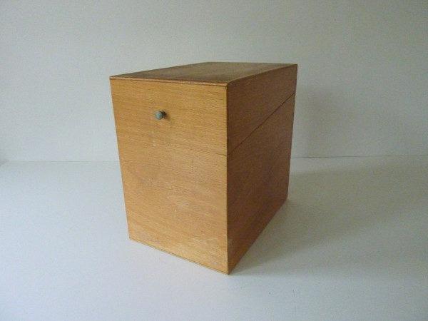boite à fiches en bois ancienne A1