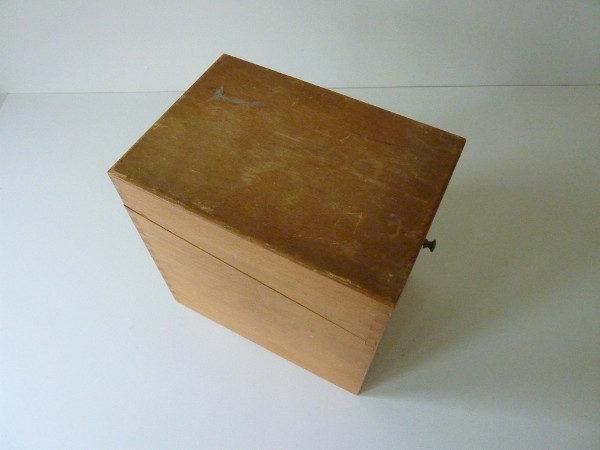 boite à fiches en bois ancienne A2