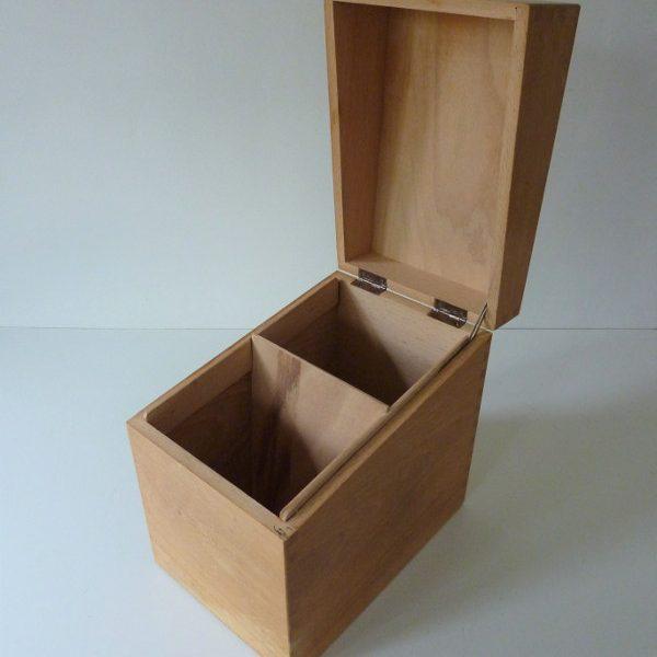 boite à fiches en bois ancienne A3