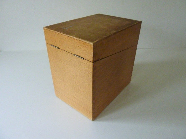 boite à fiches en bois ancienne A4