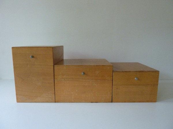 boites à fiches anciennes en bois 1