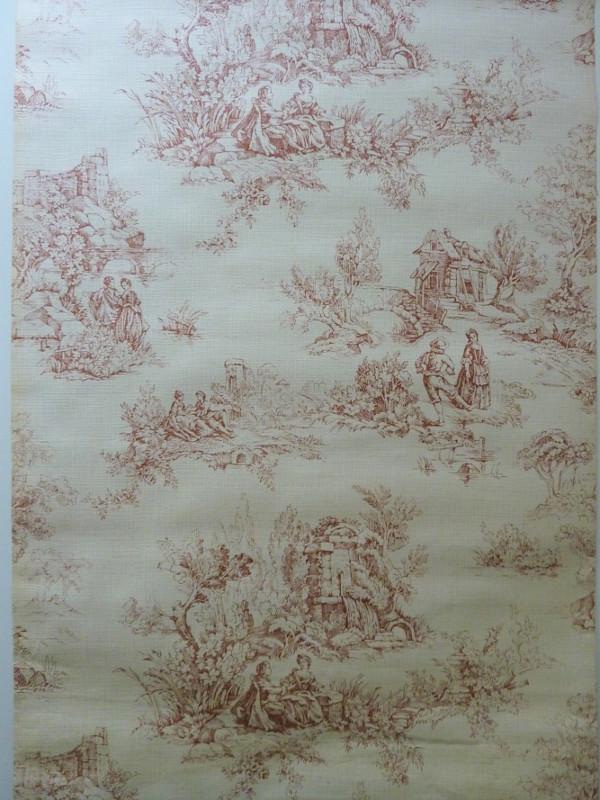 motif toile de jouy papier peint ancien 1 feeb 39 s little shop. Black Bedroom Furniture Sets. Home Design Ideas