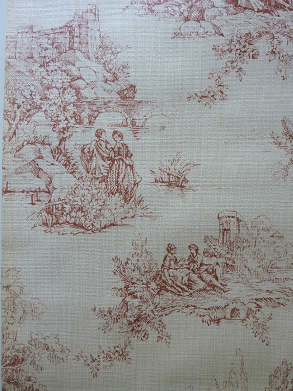 motif toile de jouy papier peint ancien 3 feeb 39 s little shop. Black Bedroom Furniture Sets. Home Design Ideas
