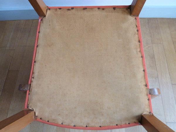fauteuil bridge ancien années 50-60 dessous