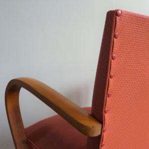 fauteuil bridge ancien bois années 50-60