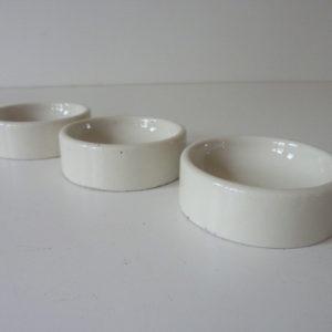 Coupelles porcelaine anciennes préparation dentiste