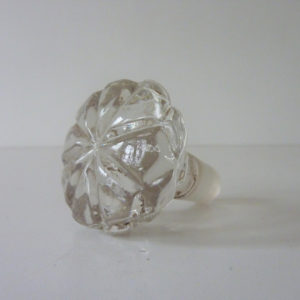 flacon ancien en cristal bouchon
