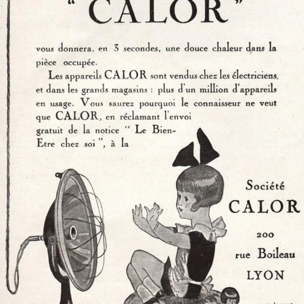 Publicité ancienne radiateur Calor