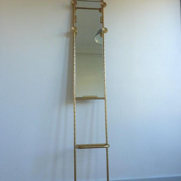 Vestiaire vintage doré bambou